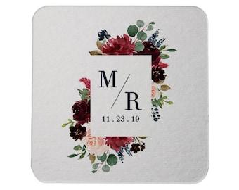 Custom Wedding Monogram, Drink Coasters, Wedding Coasters, Favors, Wedding Monogram, Wedding Favors, Personalized Favors, Bar Coasters 341