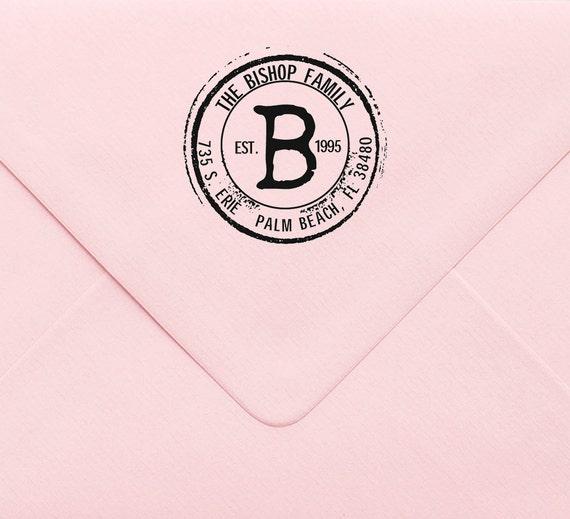 Auto encrage adresse timbre, timbre d'adresse personnalisée, monogramme, papeterie personnalisée, timbre Initial, cadeau de Noël, retour adresse 224