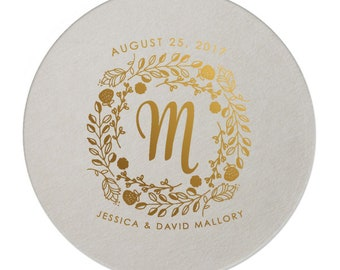 Coasters, Wedding Coasters, Drink Coaster, Personalized Coaster, Anniversary Party Gift, Weddings, Party Supplies, Monogrammed Coaster 294