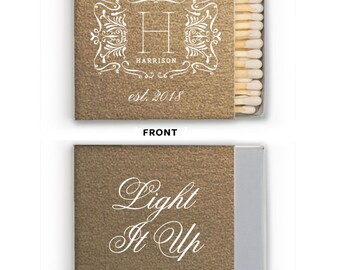 Custom Matches, Printed Matches, Monogrammed Matches, Wooden Matches, Box Matches, Reception Matches, Sparkler Matches, wedding Favors 299