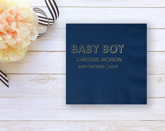 Baby Shower Napkins, Personalized Cocktail Napkins, Baby Shower Cocktail, Gender Reveal, Event Napkins, Personalized Napkins 93