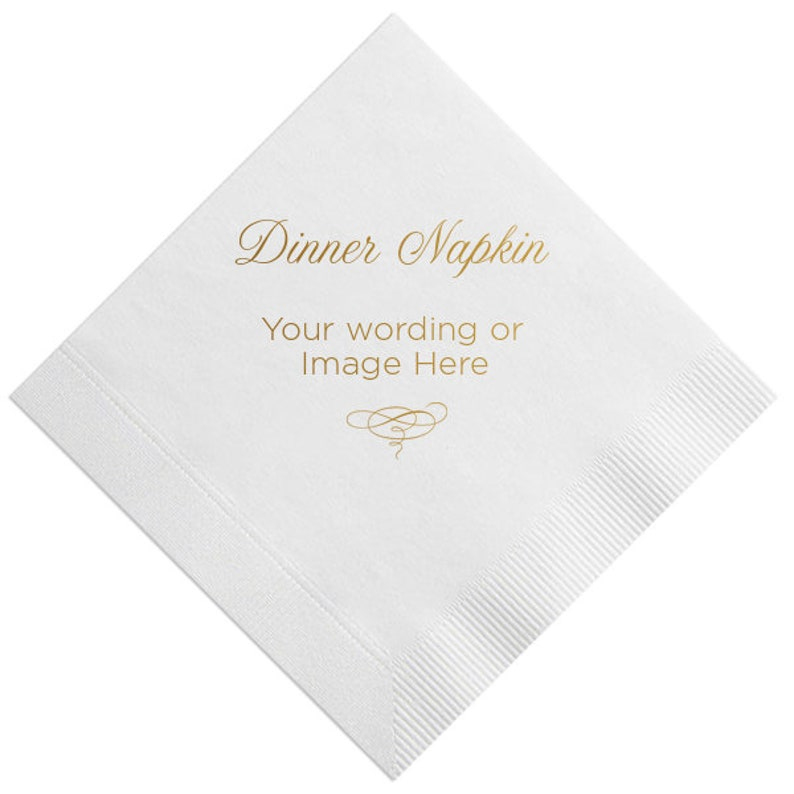 Personalized Luncheon or Dinner Napkins Custom Napkin Foil image 0