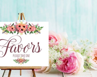 Instant Download Wedding Favor Sign / / Wedding Favor Table / Candy Buffet // Instant Download