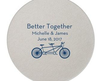 Custom Wedding Monogram, Drink Coasters, Wedding Coasters, Custom Favors, Gold Foil, Wedding Favors, Personalized Favors, Bar Coasters 107