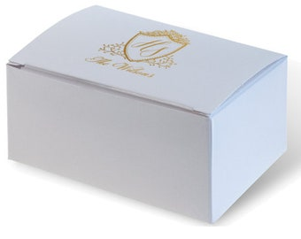 Personalized Wedding Cake Boxes, 50 ink colors to choose from, Birthday Party Favor Custom Printed Wedding Favor Birthday Favor 286