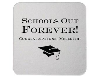 Coasters - Graduation Party, Personalized Coasters, Grad Coasters, Class of 2019, name coaster, Congrats Grad, Graduation Party, 227