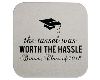 Graduation Party Coasters, Coasters for graduation, Custom Grad Coasters, Class of 2019, name coaster, Graduation Party, Coasters 225