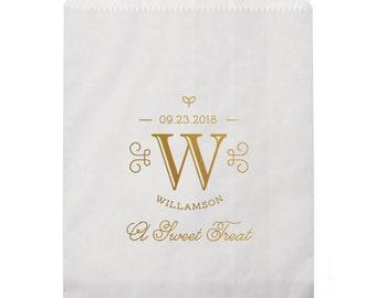 Donut Favor Bag, Wedding Favor Bags, Donut, Personalized Wedding Favor Bags, Custom Favor Bags, Cake Bag, Candy Buffet Bag 298