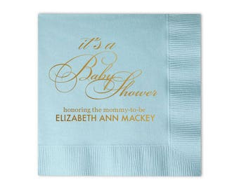 Custom Baby Shower Napkins, Personalized Napkins, Baby Shower Luncheon, Guest Towel, Gender Reveal Party, Event Napkins,  Boy, Girl 98