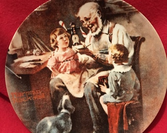 Norman Rockwell, The Toy Maker, Plate, Collector plate