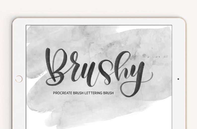 Brushy Lettering Procreate Brush iPad Pro Digital Calligraphy image 0