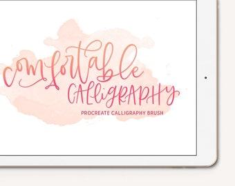 Comfortable Calligraphy Procreate Brush iPad Pro Digital Lettering