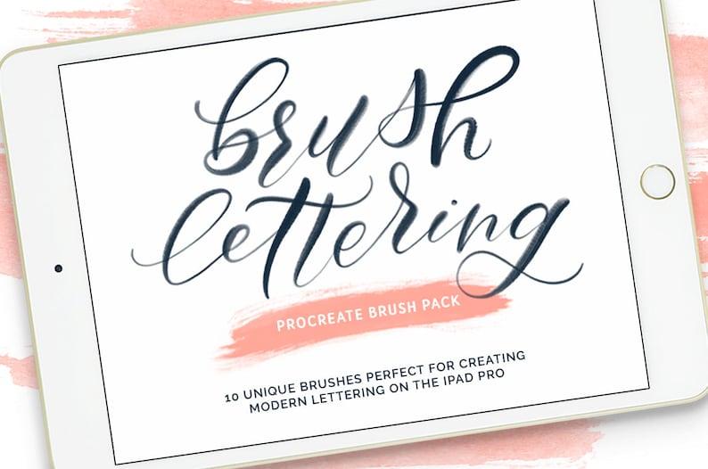Procreate Brushes   Lettering Brush Pack   Procreate Brush image 0