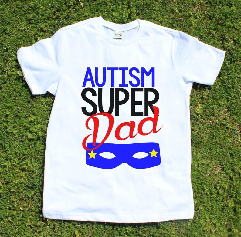 50f82b929 Autism T-Shirt Autism Awareness Super Dad Super Mom | Etsy