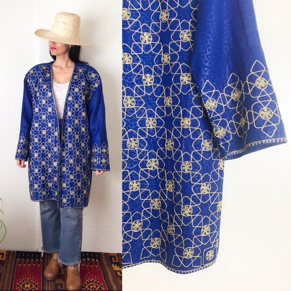 Vintage 80's Pakistani Embroidered Oversized Blaze