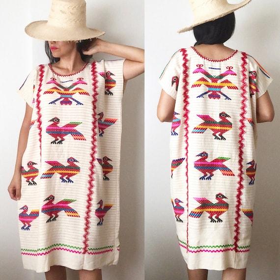 Mexican Huipil Dress / Mexican Kaftan / Ethnic Han