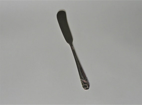 $ International Wedgewood Sterling Silver Individual Butter Spreader Flat Handle