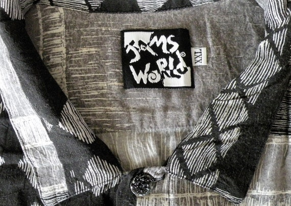 Jams World Shirt, Black White Jams, Made in Hawaii