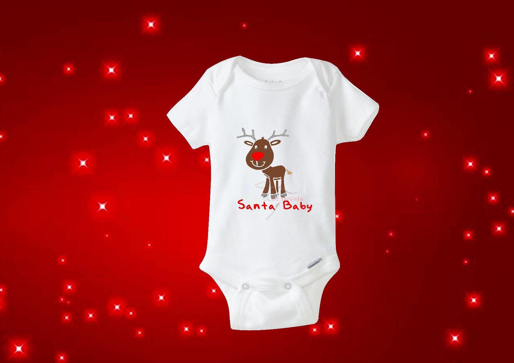 Santa Baby Baby Bodysuit Baby Gift Christmas Bodysuit Etsy