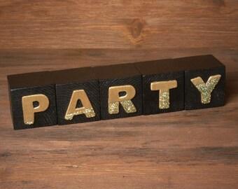 Classy Wooden Party Blocks