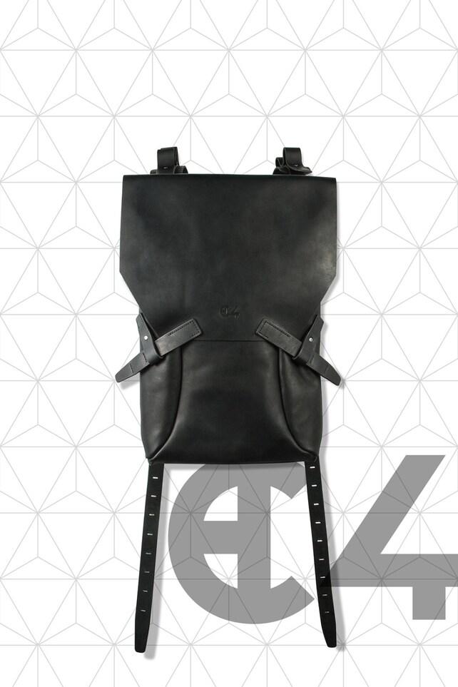 Rucksack aus Leder schwarz / Fashion-Rucksack / Minimal | Etsy