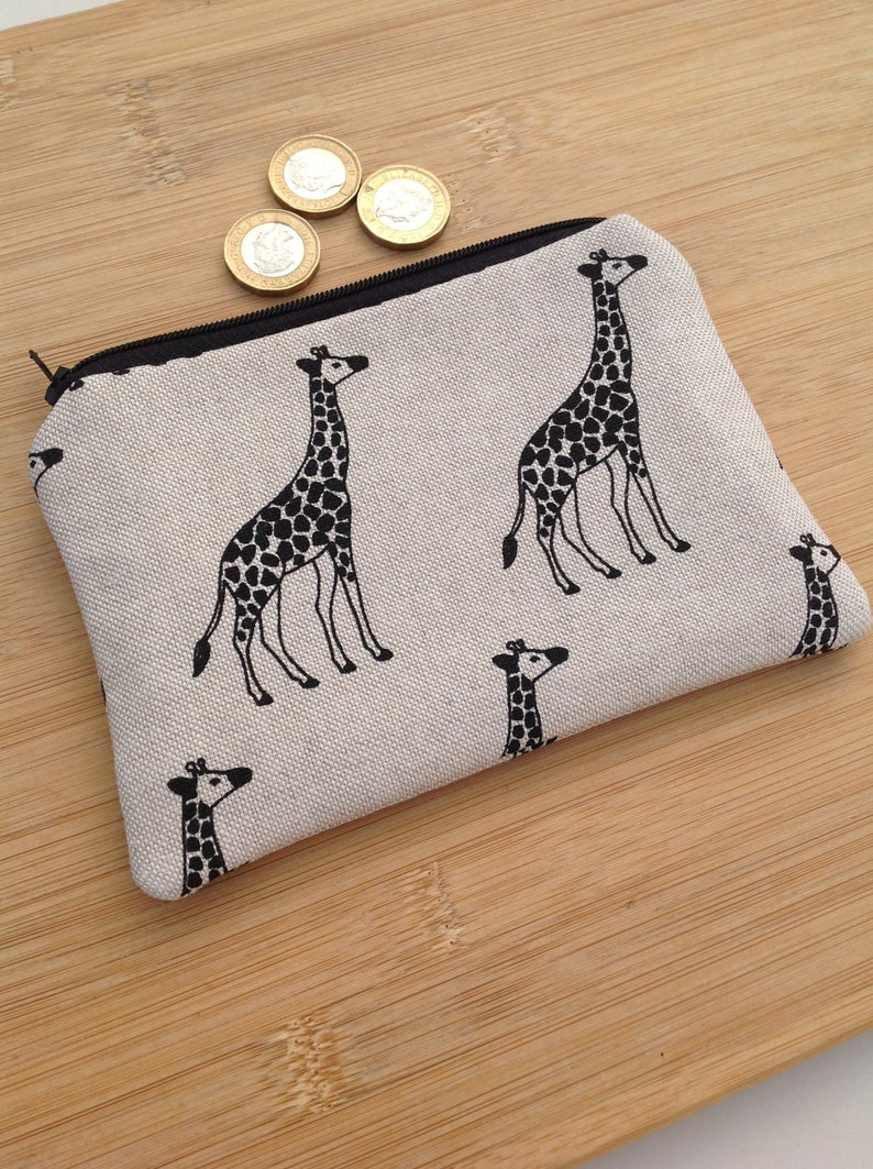Giraffe Coin Bag Zippered Pouch Travel Makeup Coin Purse