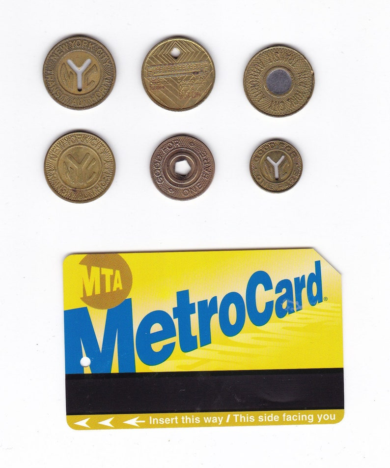 1980 Diamonds Jubilee Subway Map.Complete Set Of 6 Nyc Subway Tokens Nycta Mta New York City Transit Authority 1950 2003 W Metrocard