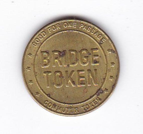 Lot of 2 1934 Pennsylvania-New Jersey Delaware River Commission Bridge Token Toll Original Genuine Authentic ET43