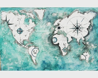 World map tapestry etsy holiday sale 25 off world atlas tapestry painting gumiabroncs Images