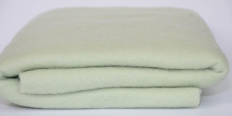 Wet Felting Fiber Art LITE GREEN-Merino Wool Prefelt  28 x 58 Needle Felting