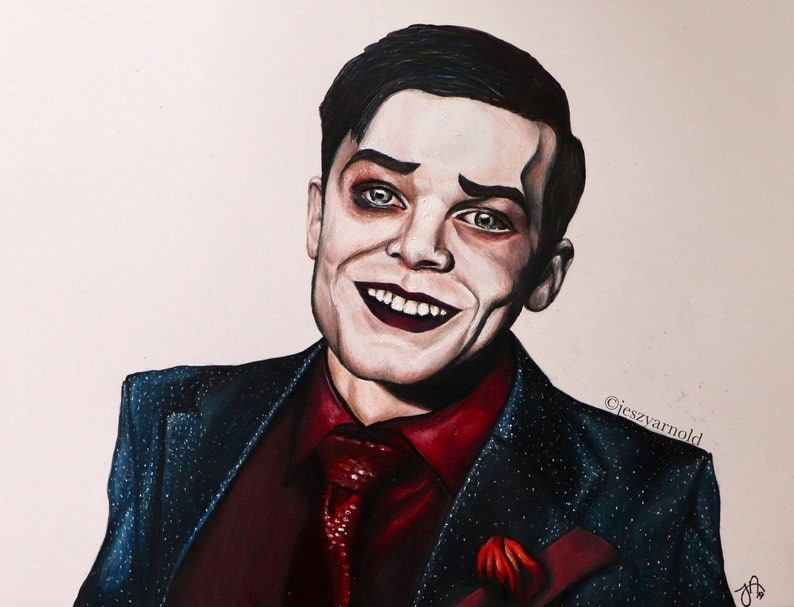 Jeremiah Valeska Drawing 11x14in Print GOTHAM