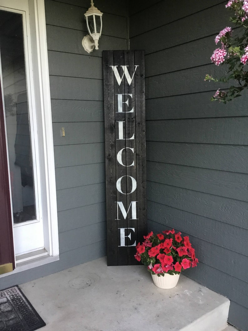 Welcome Sign Front Door Welcome Sign Welcome Sign Front Black