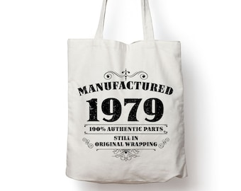 40th Birthday Gift Funny Tote Bag 40 Year Old Printed For Him Coworker Cotton Gag Manufactured