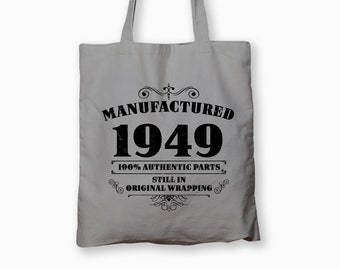 70th Birthday Gift Funny Tote Bag 70 Year Old Printed For Him Coworker Cotton Gag Manufactured