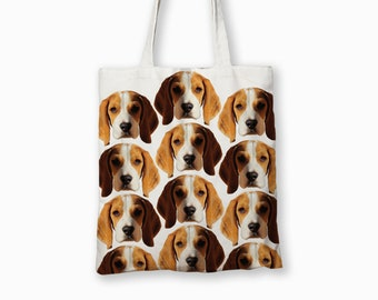 Personalised /'Beagle/' Dog Canvas Tote Bag GIFT FOR PET DOG OWNER