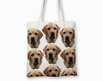 Labrador Yellow Lab Dog Canvas Tote Bag Pet Shopping Purse Beach Diaper Puppy