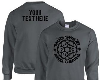 Biker Cycling Gifts Personalized Bang Tidy Clothing Mountain Biking MTB Bike Hoodie Mud Sweat