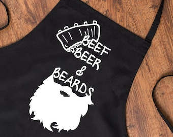f0234c8d941 Funny BBQ Apron Grilling Gift - Novelty Fathers Day Grilling Gift - BBQ  Beef