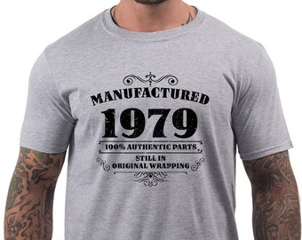 Mens 40th Birthday Gifts Shirt Dad Gift For Him Ideas Present Fathers Day 1979 Manufactured