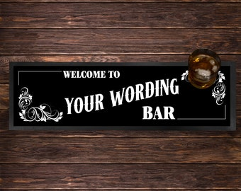 Thatchers Bar Mat Home Bar Beer Runner Rubber Beer Mat