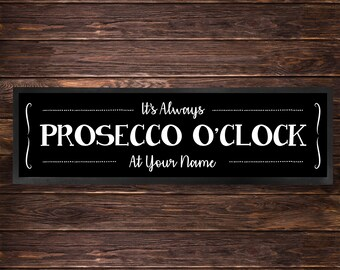 Its Always prosecco oclock design Bar Runner great gift idea home bar shop cocktail party advertising tool bar mat