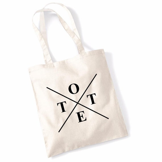 """Printed Tote Bag Funny Slogan Shoulder Bags Shopping /""""Excuse My French/"""""""