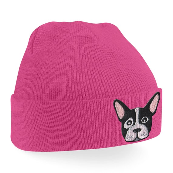 dadc7163 Cute French Bulldog Puppy Embroidered Turn up Fashionable   Etsy