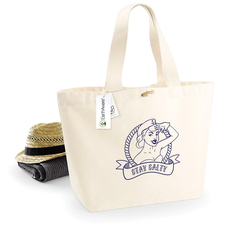 Organic Cotton Tote \u2013 Monogram Weekender Tote Bag \u2013 Fabric Shopping Travel Bag Large Canvas Tote Bag \u2013 Shoulder Beach Bag