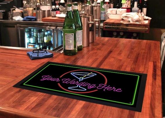 Rubber Bar Mat Bar Runner Beer Bottle Tops Spill Mat Gift Idea