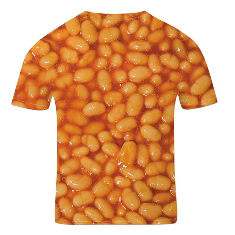Funny Kids T Shirt Baked Beans Graphic Tee Unisex Childrens Clothing Food T Shirt Printed Top Trendy Kids Clothes Unisex Summer Clothing