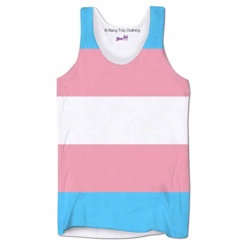 631cd60d98ab7e Transgender Flag Tank Tops Army Trans Pride top vest LGBT