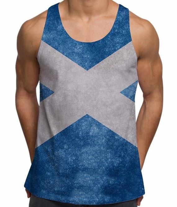 Drapeau écossais pour homme entier drapeau impression par Sublimation Holiday Gym Festival gilet