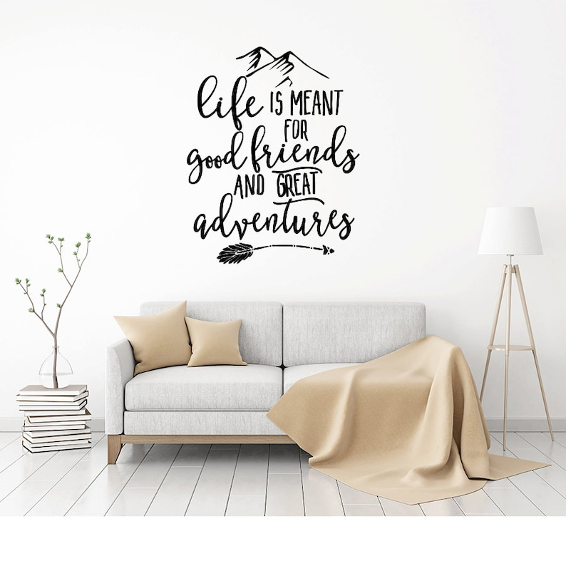 Explorer Travel Gifts Adventure Quote Say Yes to New Adventures Wall Decal Adventure Adventure Wall Decal Adventure Decal Wall