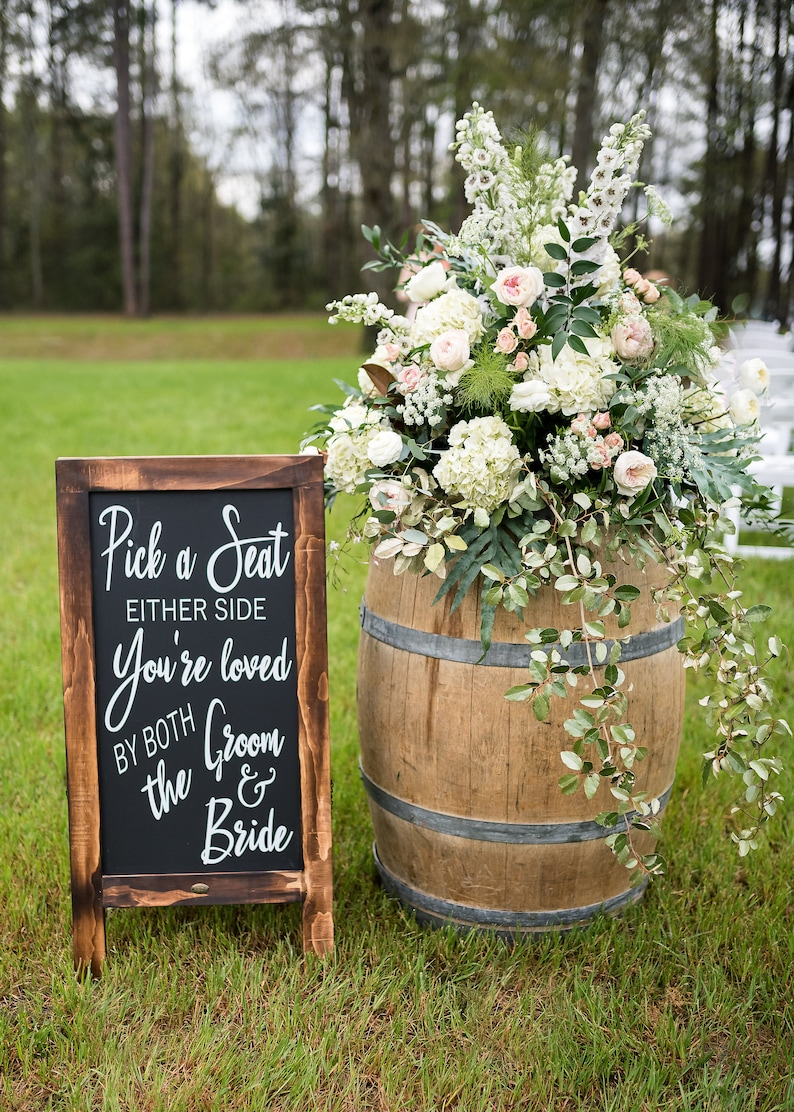 Wedding Reception Decor Seating Sign Pick a Seat Not a image 0